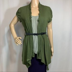 Halo by Heart Soul Top with Belt Size Large